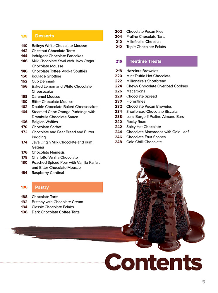 I Love Chocolate I Love Thermomix TM5 Cookbook Contents Page 2