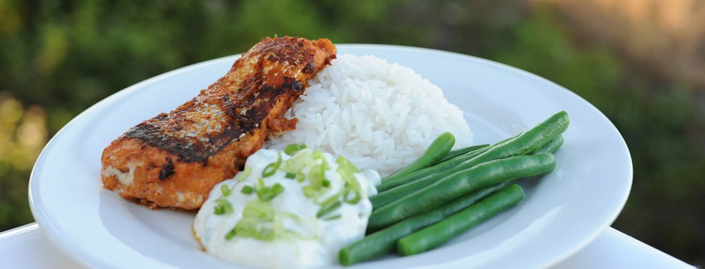Thai Salmon with Coconut Rice Thermomix Recipe