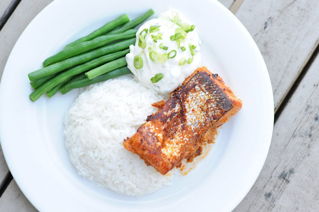 Thai Salmon with Coconut Rice Thermomix Recipe