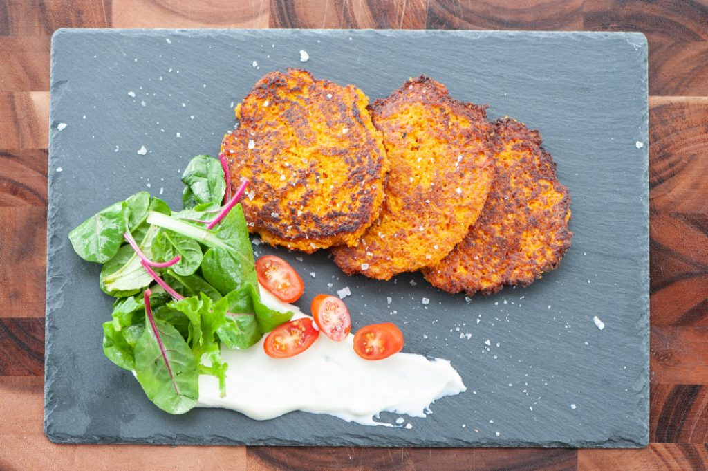 Sweet potato carrot fritters thermomix recipe