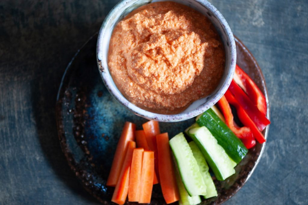 Roasted red pepper and cashew dip thermomix recipe